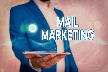 Handwriting text Mail Marketing. Conceptual photo sending a commercial message to build a relationship with a buyer