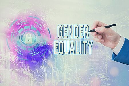 Handwriting text writing Gender Equality. Conceptual photo access to same privilege given to both men and women