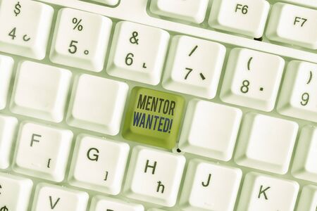 Text sign showing Mentor Wanted. Business photo text finding someone who can guide oneself to attain success