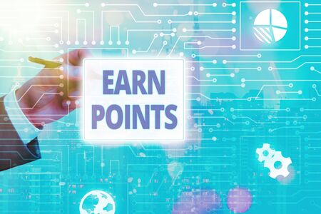 Conceptual hand writing showing Earn Points. Concept meaning a fund rewarded automatically after purchasing any product Stockfoto