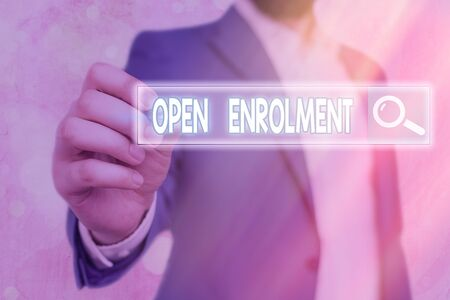 Handwriting text writing Open Enrolment. Conceptual photo allows the application of health insurance within the period