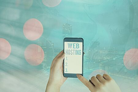 Conceptual hand writing showing Web Hosting. Concept meaning business allowing access to a server to store data in a website