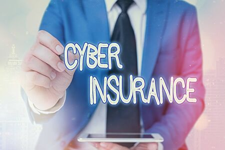 Word writing text Cyber Insurance. Business photo showcasing exclusive plan to protect the company from Internetbased risk