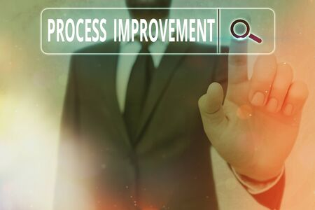 Writing note showing Process Improvement. Business concept for task of identifying upon existing business courses Stok Fotoğraf