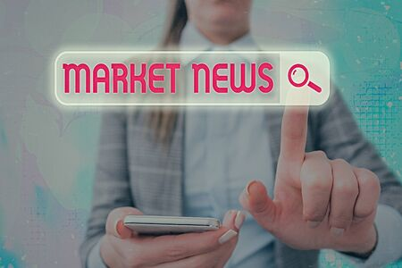 Text sign showing Market News. Business photo text news content made for convincing targeted buyer over a product