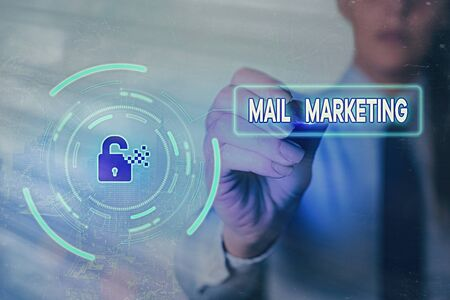 Conceptual hand writing showing Mail Marketing. Concept meaning sending a commercial message to build a relationship with a buyer