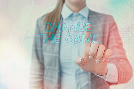 Handwriting text writing Change The Game. Conceptual photo adjustment in coarse strategy planning process etc Stok Fotoğraf