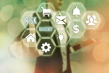 Word writing text Risk Management. Business photo showcasing assessing and controlling future threats to the business