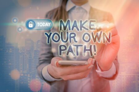Handwriting text writing Make Your Own Path. Conceptual photo deciding whats brand or business right for you Reklamní fotografie