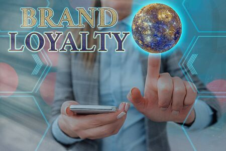 Handwriting text Brand Loyalty. Conceptual photo positive feelings to a brand and purchase the same product