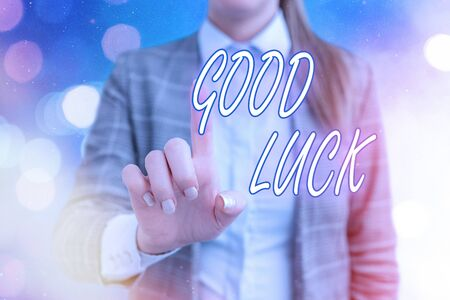 Handwriting text writing Good Luck. Conceptual photo expressing hope for someone to be successful with their circumstances