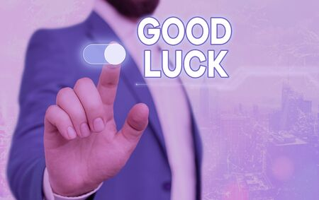 Handwriting text Good Luck. Conceptual photo expressing hope for someone to be successful with their circumstances