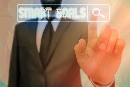 Word writing text Smart Goals. Business photo showcasing mnemonic used as a basis for setting objectives and direction