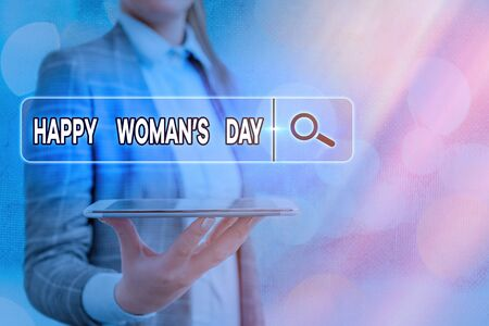 Text sign showing Happy Woman S Day. Business photo text to commemorate the essence of every lady around the world