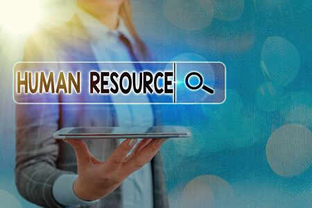 Text sign showing Human Resource. Business photo text a critical department handling the staffing and employees concern