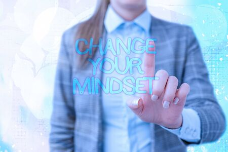 Handwriting text writing Change Your Mindset. Conceptual photo Personal development and career growth alteration Stock Photo