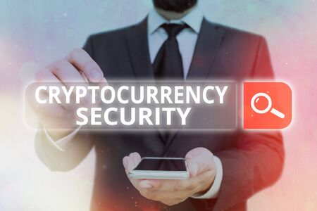 Handwriting text Cryptocurrency Security. Conceptual photo prevent unauthorized digital money transactions
