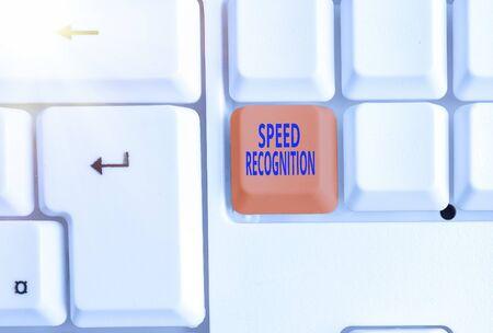 Handwriting text writing Speed Recognition. Conceptual photo interdisciplinary subfield of computational linguistics
