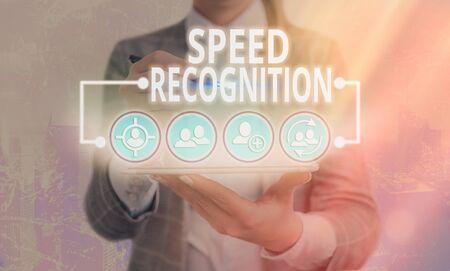Word writing text Speed Recognition. Business photo showcasing interdisciplinary subfield of computational linguistics Reklamní fotografie