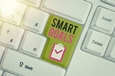 Handwriting text writing Smart Goals. Conceptual photo mnemonic used as a basis for setting objectives and direction