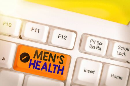 Conceptual hand writing showing Men S Health. Concept meaning men s is state of complete physical, mental, and social wellbeing