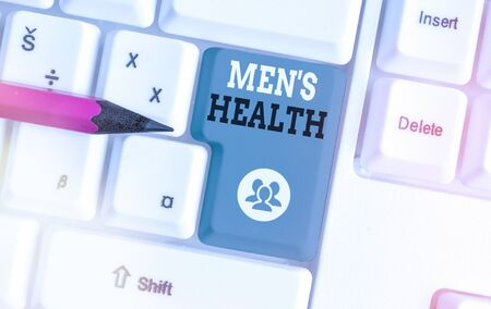 Writing note showing Men S Health. Business concept for men s is state of complete physical, mental, and social wellbeing
