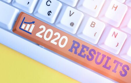 Conceptual hand writing showing 2020 Results. Concept meaning any outcome of an action or event that happens in the year 2020