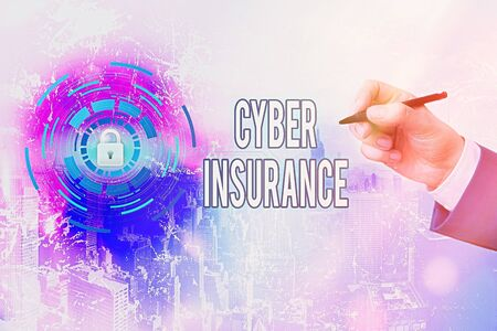 Handwriting text writing Cyber Insurance. Conceptual photo exclusive plan to protect the company from Internetbased risk