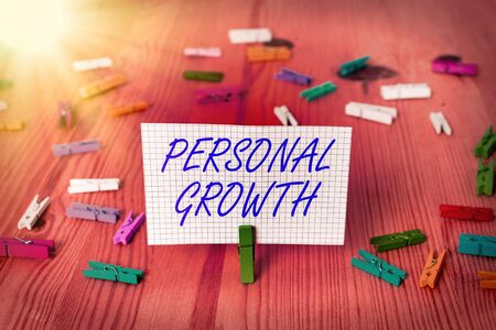 Handwriting text Personal Growth. Conceptual photo a longterm process which shows the development of a
