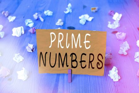 Conceptual hand writing showing Prime Numbers. Concept meaning a positive integer containing factors of one and itself Stock Photo