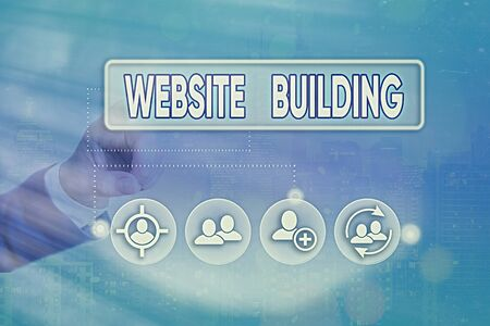 Conceptual hand writing showing Website Building. Concept meaning site is constructed according to the clients needs