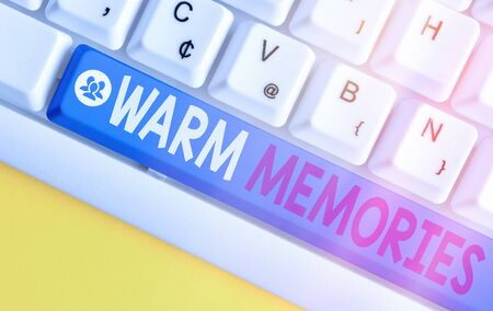 Conceptual hand writing showing Warm Memories. Concept meaning reminiscing the unforgettable collection of past events