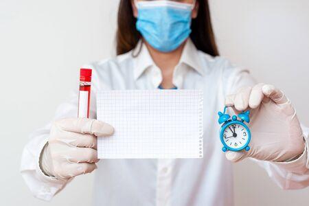 Laboratory Blood Test Sample Shown For Medical Diagnostic Analysis Result