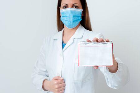 Laboratory Technician Featuring Empty Sticker Paper Accessories Smartphone 版權商用圖片