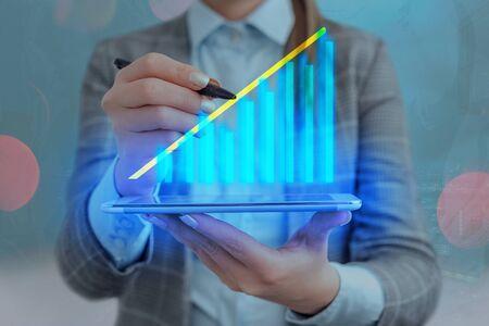 Arrow Symbol Going Upward Denoting Points Showing Significant Achievement Stock fotó