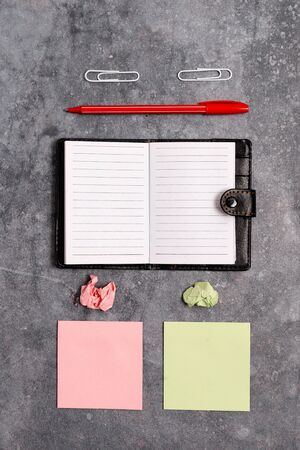 Paper Accesories With Digital Smartphone Arranged On Different Background