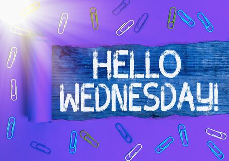Text sign showing Hello Wednesday. Business photo text it is a good day when you reach in the middle of the week Reklamní fotografie