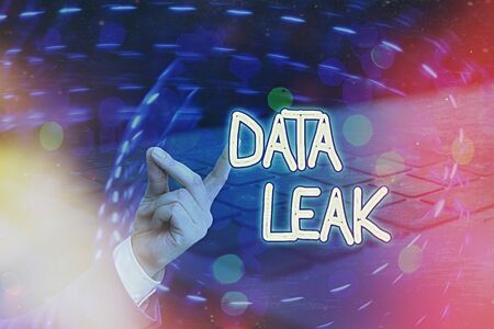 Conceptual hand writing showing Data Leak. Concept meaning released illegal transmission of data from a company externally