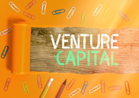Conceptual hand writing showing Venture Capital. Concept meaning available for investment in the ownership element of new