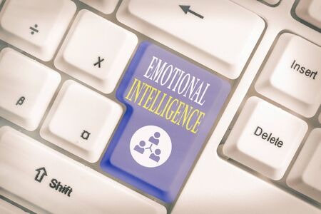 Word writing text Emotional Intelligence. Business photo showcasing capacity to be aware of, control, one s is emotions Stok Fotoğraf