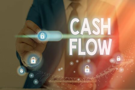 Conceptual hand writing showing Cash Flow. Concept meaning auditing the net amount of cash transferred into and onto the business