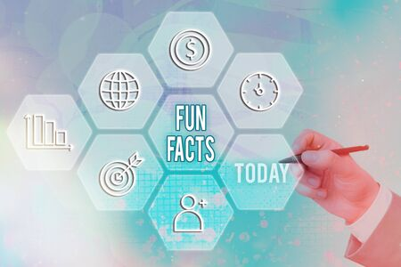 Text sign showing Fun Facts. Business photo text short interesting trivia which contains pieces of information Stok Fotoğraf