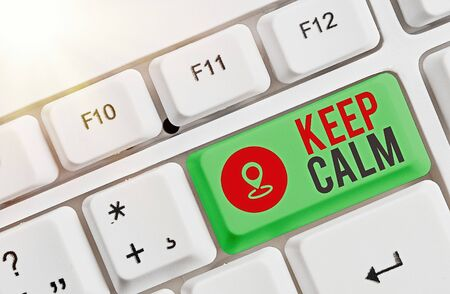 Handwriting text writing Keep Calm. Conceptual photo remain composure over situations with fewer emotions involved Stock Photo