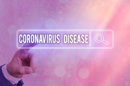 Writing note showing Coronavirus Disease. Business concept for defined as illness caused by a novel virus SARSCoV2 Web search digital information futuristic technology network connection