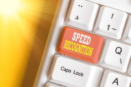 Handwriting text Speed Recognition. Conceptual photo interdisciplinary subfield of computational linguistics Reklamní fotografie