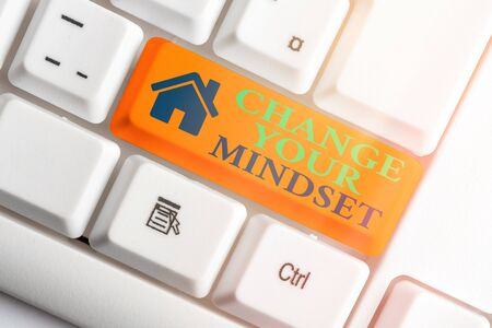 Text sign showing Change Your Mindset. Business photo text Personal development and career growth alteration Stock Photo