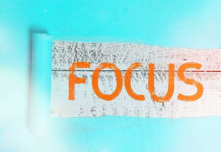 Word writing text Focus. Business photo showcasing to give attention to one particular thing make do concentrate Stock Photo