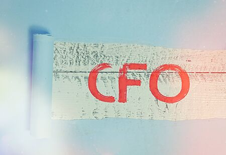 Word writing text Cfo. Business photo showcasing chief financial officer managing the financial actions of company