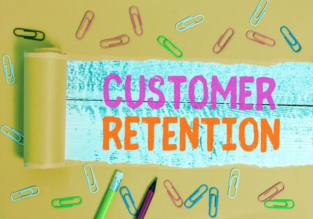 Text sign showing Customer Retention. Business photo text activities companies take to reduce user defections Stock fotó