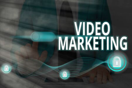 Word writing text Video Marketing. Business photo showcasing using videos to promote and market your product or service